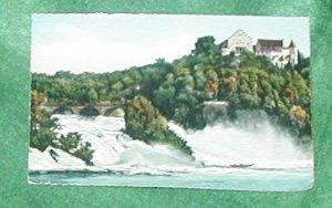 RHEINFALL mit Schlossi Worth Laufen GERMANY POST CARD