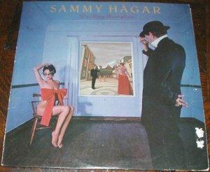 SAMMY HAGAR STANDING HAMPTON LP VINYL 33 RECORD.
