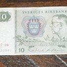 Sweden Sverige Riksbank 10Kr dated 1987 BB C12291 MONEY CIRCULATED