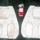 ceramic mold NORTH POLE 3 BUILDINGS MACKY'S TRAIN SIZE