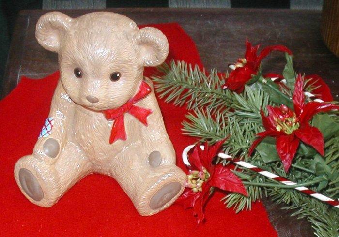 TEDDY BEAR PLANTER HOLLAND FLORAL CO NURSERY VASE PINES