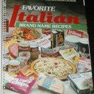 COOKBOOK BOOK  Favorite Italian Brand Name Recipes