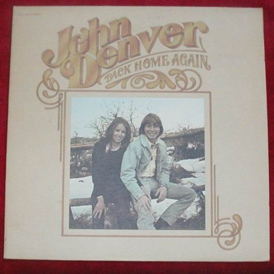 "John Denver Back Home Again 33 RPM 12"" Vinyl LP RECORD.  Back Home Again"