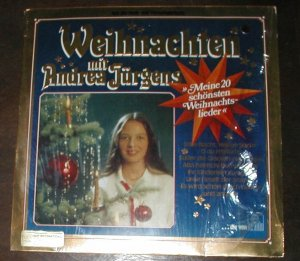 """WEIHNACHITEN ANDREA JUGENS GERMAN CHRISTMAS MUSIC RECORD 33 RPM. SONGS INCLUDE """" STILLE NACHT,"""