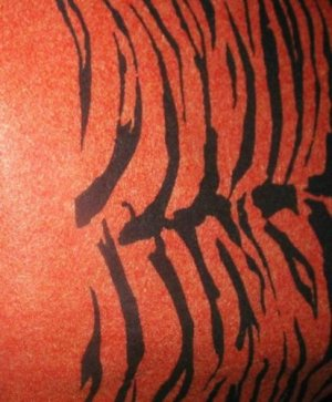 "ORANGE TIGER FELT FABRIC FOR COSTUME OR CRAFT.  1/2 YARD BY 45""."