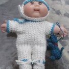 "CABBAGE PATCH HANDMADE CROCHET OUTFIT ONESIE BOOTIES HAT 8"" DOLL NO DOLL TOY DOG NO  DOLL"