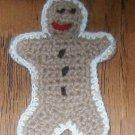 "Gingerbread man crochet 4"" fabric embellishment  applique"