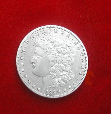 1899 - O, Morgan Silver Dollar Circulated United States antique coin estate