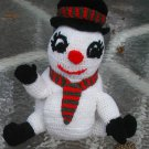 SNOWMAN CHRISTMAS TOILET PAPER COVER CROCHET HAND MADE. NO TOILET PAPER