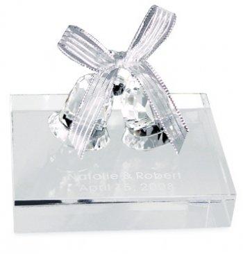 Engraved Crystal Love Bells