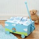 """Welcome to the World"" Blue Baby Wagon - Ten-Piece Gift Set"