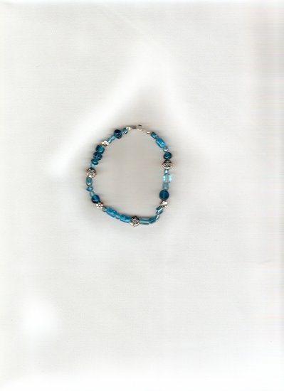 Bikini Bottom Hand beaded bracelet