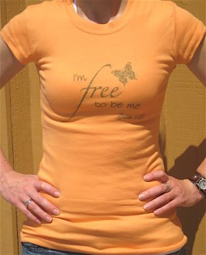 I'm Free Tee - Orange