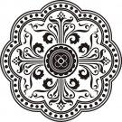 "MED1000 Medieval Design Medallion - 24""x24"""