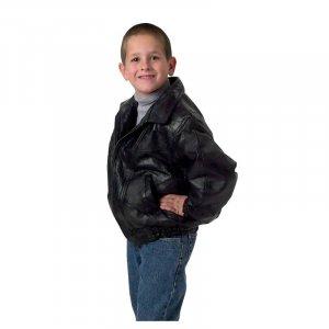 Children's Genuine Leather Jacket