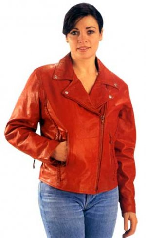 Red Leather Motorcycle Jacket