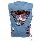 Denim Motorcycle Vest