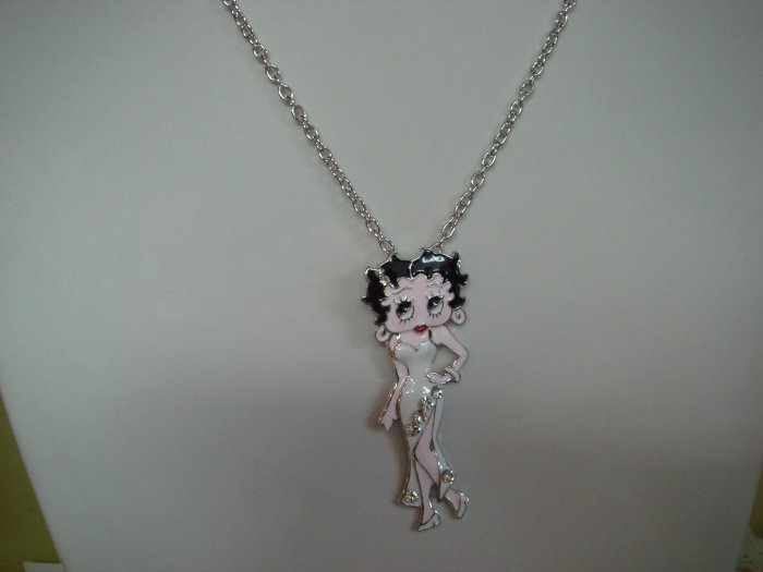 Betty Boop in white Dress Necklace #0265 $24.99