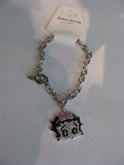 Betty Boop Bracelet  with pink Bow (#78115) $24.99