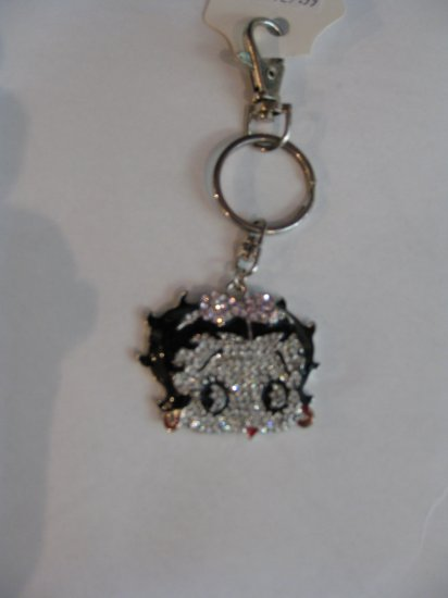 Betty Boop Head with pink Bow key Chain (#AW10 )$29.99