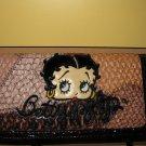 Betty Boop Parchwork Croco Trim Wallet Brown#8088BBLW-BRN$29.99