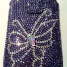 Purple Butterfly Crystal iphone 4G/4S case $70.00 #890027