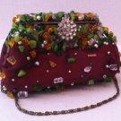 burgundy evenig bag with stone/bead detailing $39.99 #Ev11