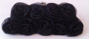 Black Chiffon floral cluster Evening Bag $39.99 #EV12