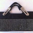 Black Satin Evening bag w/Rhinestones $59.99 #ev14