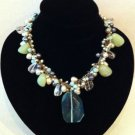 freshwater pearl necklace with semi precious stones $129.99 #FWPGN