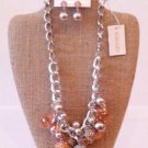 Crystal covered Bauble necklace/earrings $69.99 #5102