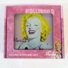 Marilyn Monroe glass coaster set $29.99 #5343