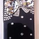 Black embelished snap on iphone 4G/4S case $45.00 Sale:$29.99 #PC3D031