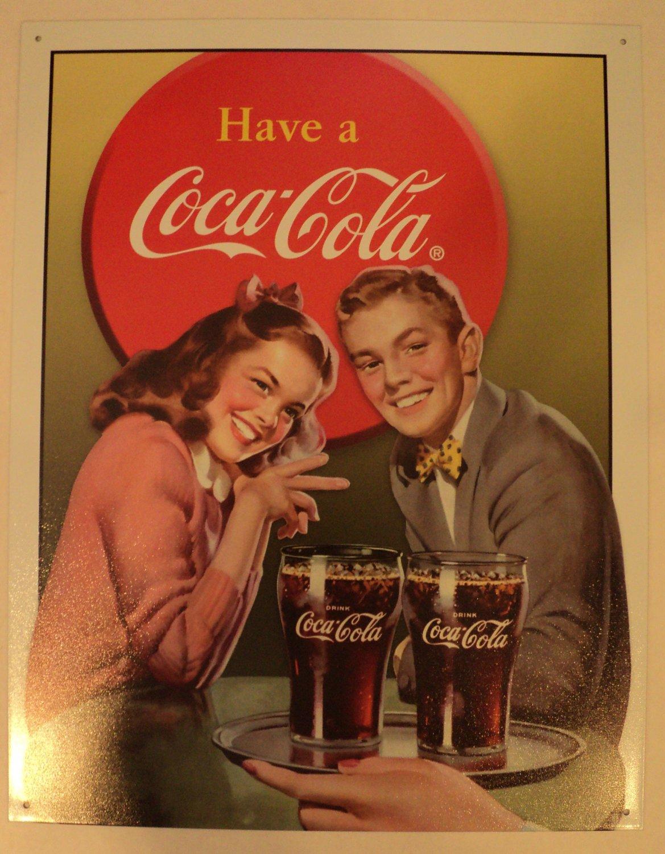 Coca Cola young couple $19.99 #1304