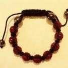Red crystal covered Shamballah bracelet Reg.$34.99 Sale.$29.99