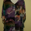 multicoloured chiffon tunic $69.99 #9108-1