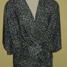 black and white cheetah print stretch tunic $59.99 #9011-2