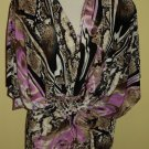 purple and brown stretch tunic $59.99 #9011-6