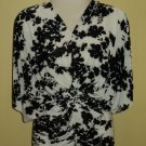 Black and White floral stretch tunic $59.99 #9011-3