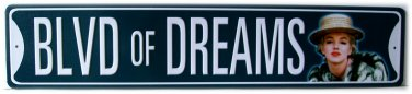 "Marilyn Monroe ""Blvd of Dreams"" long metal sign $29.99#50024"