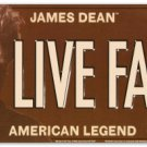 "James Dean ""Live Fast"" licence plate $14.99#12006"