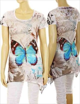 Blue butterfly Top $29.99 #TOP120-83