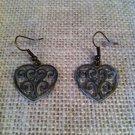 White, Metal Filigree Heart Earrings $14.99 #13E048W