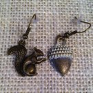 White,Metal Squirrel and Acorn Earrings $14.99 #138E640W
