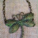 Metal, Green Dragonfly bracelet $19.99 #131B392G