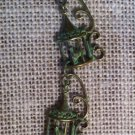 Green Metal, Tri-Birdcage Necklace $29.99 #138N539G