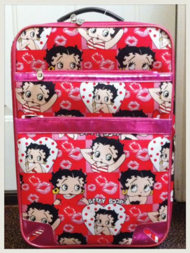 """Betty Boop """"small"""" Red And Pink Collage Style luggage $89.99 #BB0211c"""
