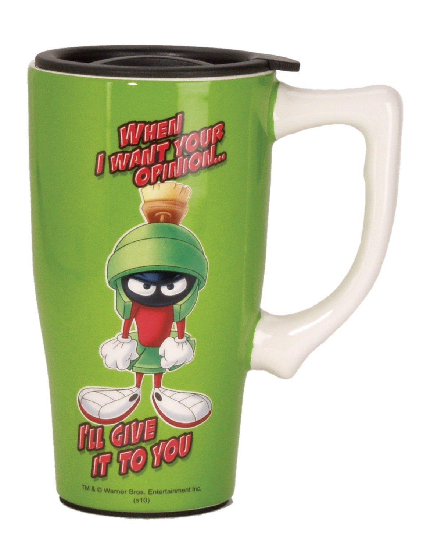 Marvin the Martian Ceramic Travel Mug $19.99 #12612