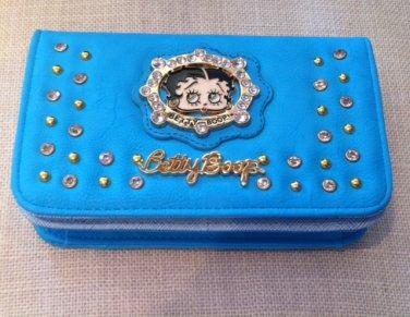 Betty Boop Blue Wallet w/long strip $34.99 #W-3013BPBLU