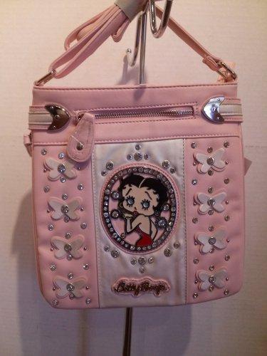 Betty Boop Pink Cross Body Bag $39.99 #BBFL-509LPNK